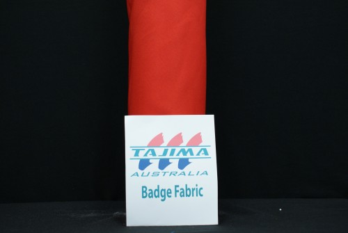 Bright Red badge Fabric