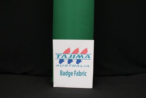 Green badge fabric
