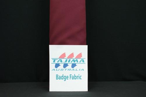 Maroon badge fabric